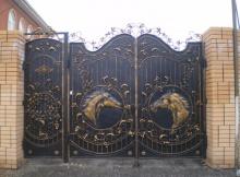 Кованные ворота в Курске